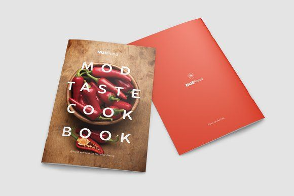Modern Cookbook InDesign Template by Prixel Creative  on @creativemarket