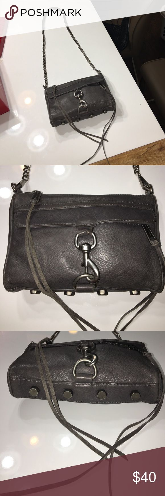 """Authentic Rebecca Minkoff leather crossbody purse Authentic Rebecca Minkoff leather crossbody purse 9"""" long 6"""" tall 2"""" wide Strap Drop 23"""" has light scuffs and discolorations throughout light wear on corners Rebecca Minkoff Bags Crossbody Bags"""