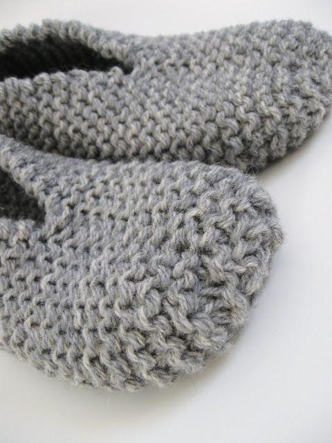 Patron gratuit de pantoufle facile au tricot – Bonjour Handmade par AnnyMay