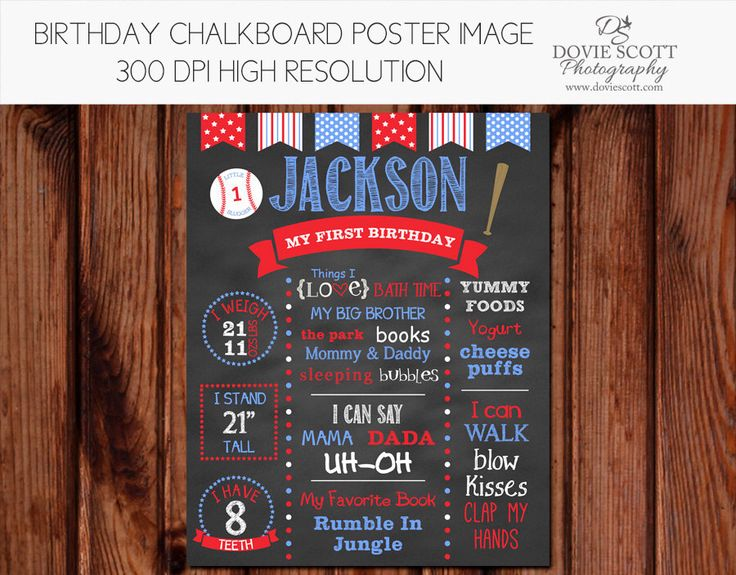 Baseball First Birthday Chalkboard Poster Printable - First Birthday Chalkboard Sign - Baseball by DovieScottPhoto on Etsy https://www.etsy.com/listing/187687858/baseball-first-birthday-chalkboard