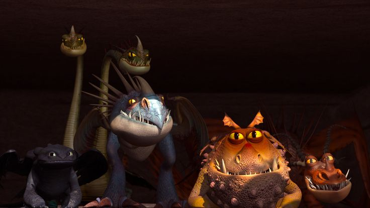 The dragons from dreamworks dragons riders of berk cartoon