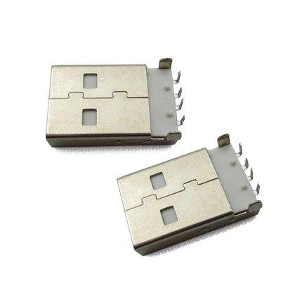 10 Unids/lote USB 2.0 Macho Tipo USB PCB DIP Conector de Ángulo Recto de 90 grados USB Macho Conectores