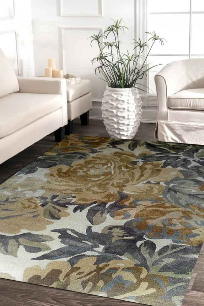 Medium Size Gloomy Flowers Best Hand Tufted Carpet Carpet Design