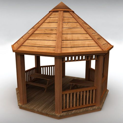 3D Printed Wooden Garden Gazebo.