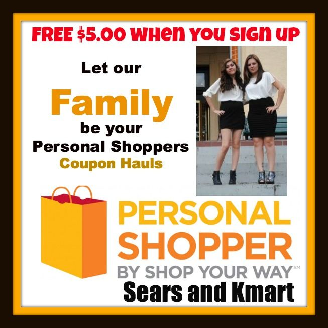 FREE $5.00 TO SHOP AT Kmart or Sears On anything!SIF YOU SIGN UP FOR ME TO BE YOUR PERSONNAL SHOPPER--(>