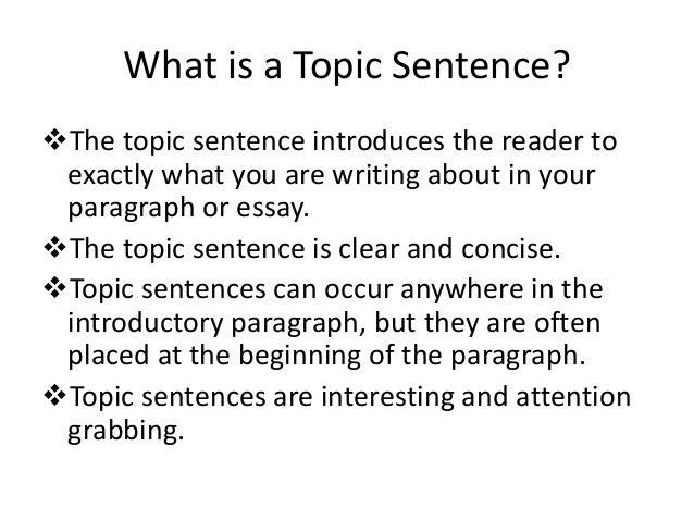 Example of a good topic sentence for an essay cheap article review writers service for college