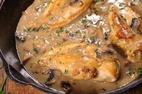 Petti di pollo cremosi ai funghi