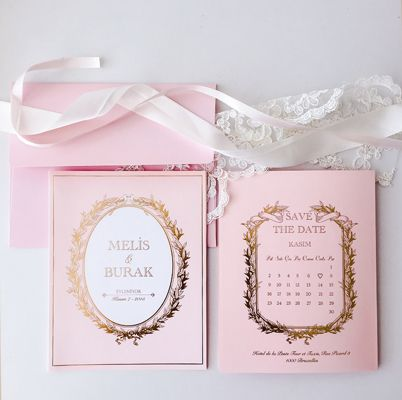 Laduree Temalı Düğün Davetiyesi - Laduree Themed Wedding Invitation