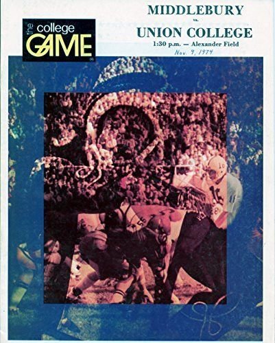 November 9, 1974 - Middlebury College Panthers vs. Union College Fighting Dutchmen