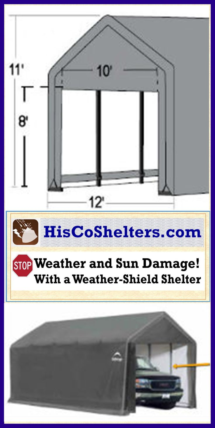 Temporary Garage Snowy Environment : Best images about portable garage carport shelter