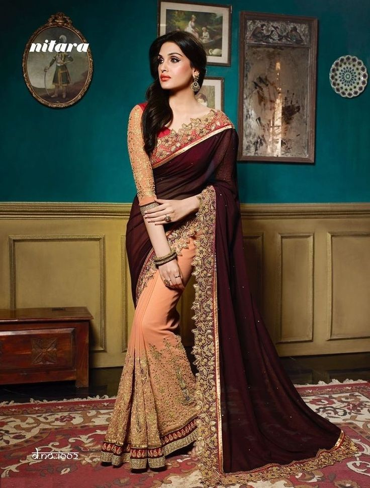 Designer Wedding Indian Sari Ethnic Dress Bollywood Pakistani Saree Partywear
