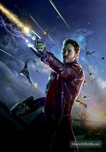 Guardians of the Galaxy promotional art with Chris Pratt