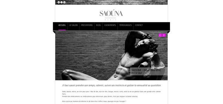 Site web de Saouna.com, Salon de massage naturiste parisien - http://www.sergueitchepik.eu/site-web-saouna-com-salon-massage-naturiste-parisien/