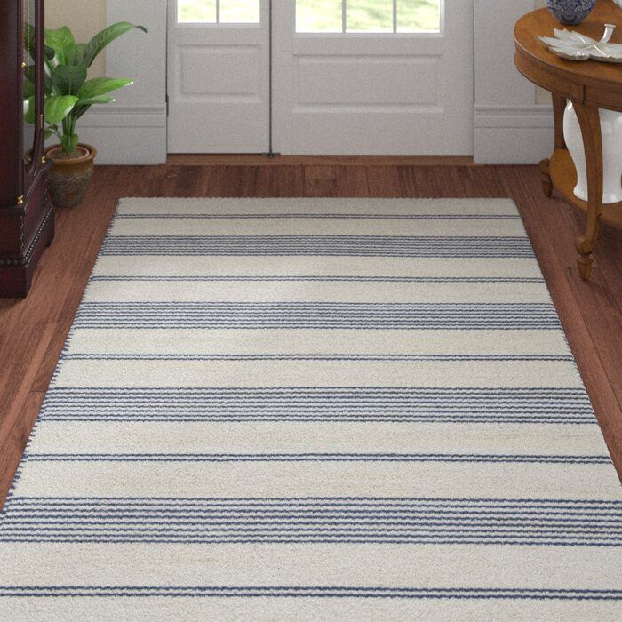 Alicea Striped Handmade Flatweave Navy Area Rug Area Rugs Black Area Rugs Navy Area Rug