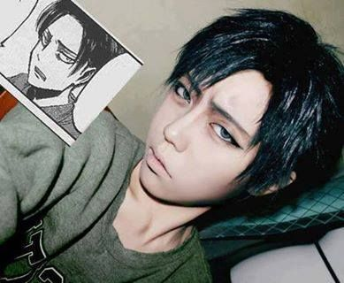 This makes me laugh :) Dat Face! Shingeki no Kyojin, Attack on Titan, Levy Rivaille cosplay