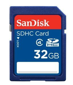 Price: 	$8.99 SanDisk 32GB Class 4 SDHC Memory Card, Frustration-Free Packaging- SDSDB-032G-AFFP (Label May Change)
