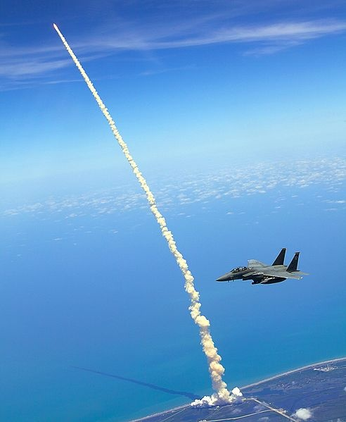 Space Shuttle AssistShuttle Launch, Spaces Shuttle, Military Aircraft, Rocket, Birds Eye View, Photos Wall, Eagles, Atlantis, Space Shuttle