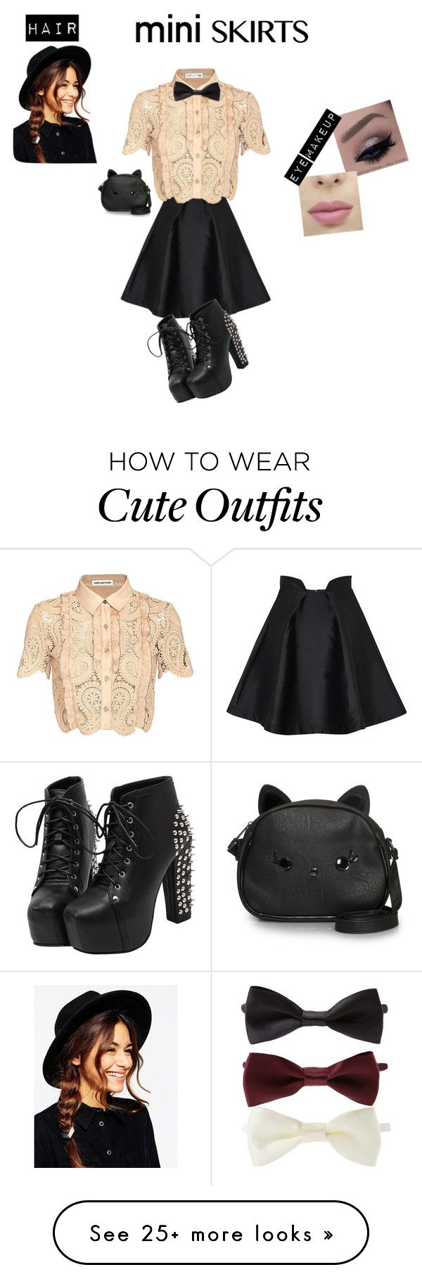 """Cute dance outfit"" by gigglesxxunicorn on Polyvore featuring Paper London, self-portrait, Forever 21, ASOS, Loungefly and MINISKIRT"