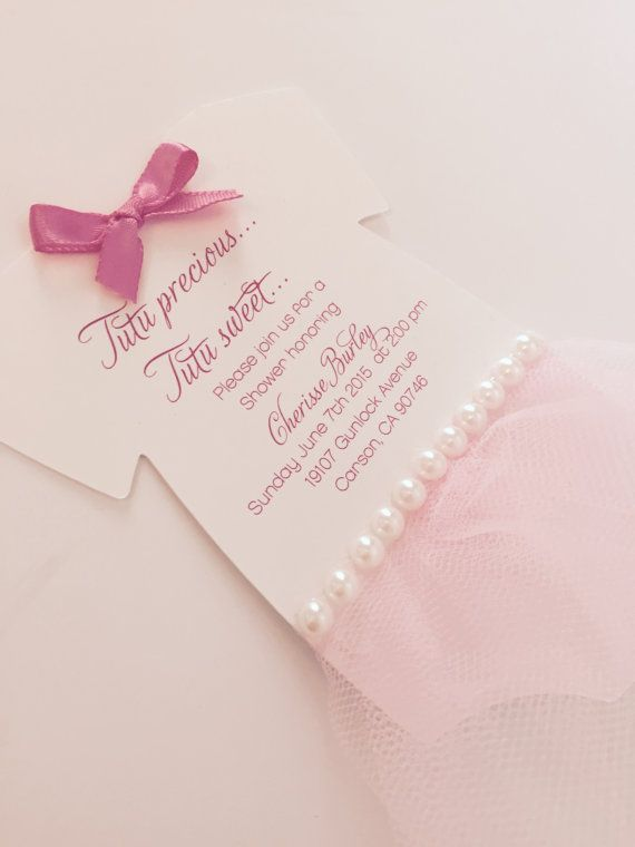 Baby onesie tutu invitation  Deposit by anaderoux on Etsy