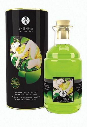 Shunga Intimate Kisses Olie - Organica - 100 ml fra Shunga - Sexlegetøj leveret for blot 29 kr. - 4ushop.dk - Shunga Intimate Kisses Aphrodisiac Olie Organica - er specielt egnet til brug under forspil eller bare når I ønsker en intim stund sammen. Massage plien intensivere og forlænger oplevelsen - påfør en lille smule af olien på kroppen eller de intime zoner - massager det blid ind i huden - pust let på olien og de partner vil mærke hvordan dette aktivere den varme effekt som Intimate ...