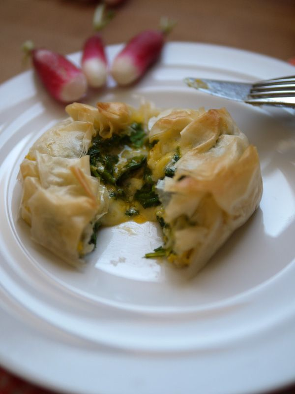 tourtes aux fanes de radis et cantal - Blog de Châtaigne