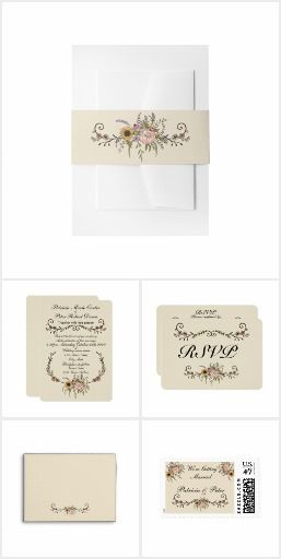 Elegant Wildflowers Wedding Set
