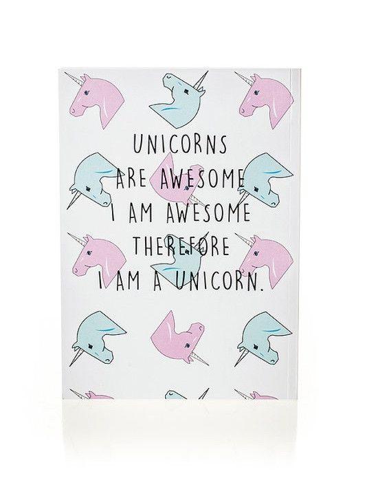 Unicorns are awesome. I am awesome. Therefore I am a unicorn. #wisdom #affirmations