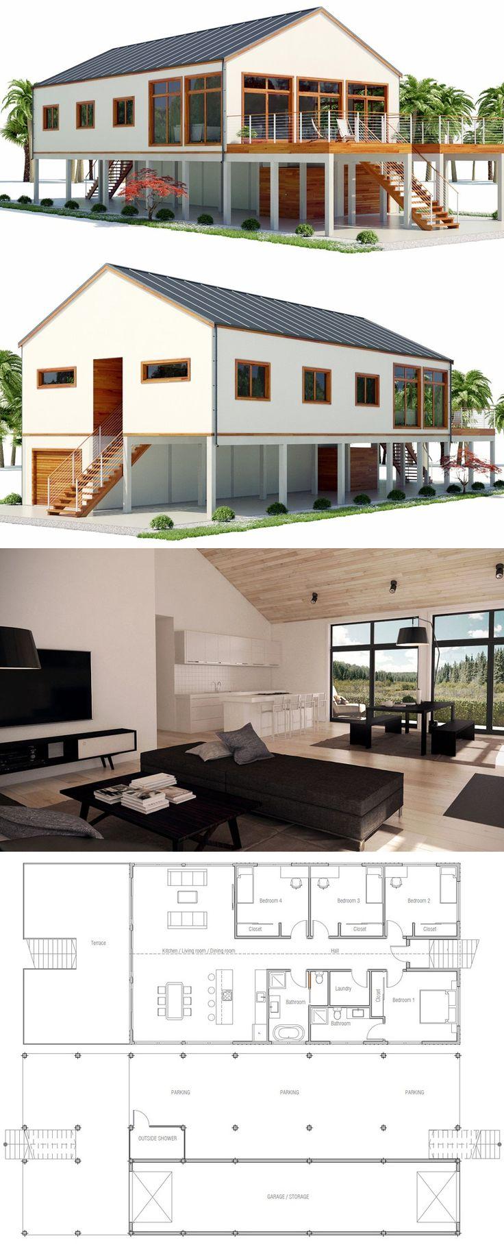 Beach house plan 9 best Raised coastal