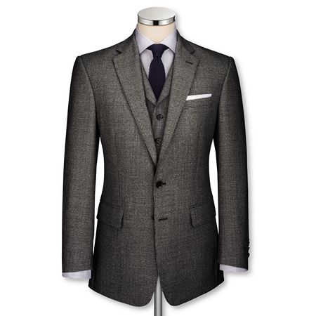 Black & grey dogstooth Black Label tailored fit suit | from Charles Tyrwhitt