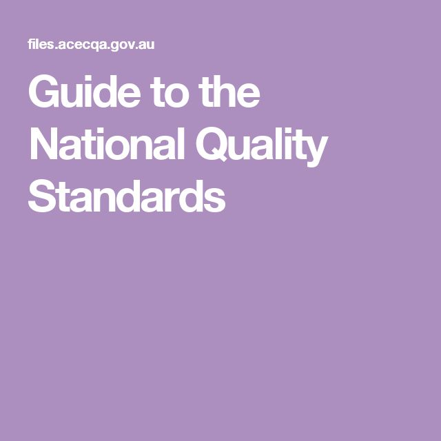 Guide to the National Quality Standards