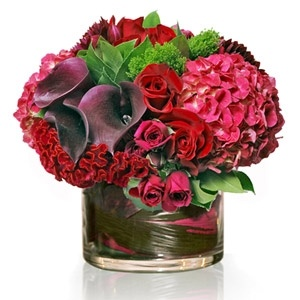 Valentines Day Floral Arrangement. I Would Much Rather This Than Roses!