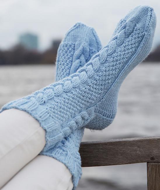 Damen-Socken, R0211 - Gratisanleitung - Socken mit 6-fädiger Wolle
