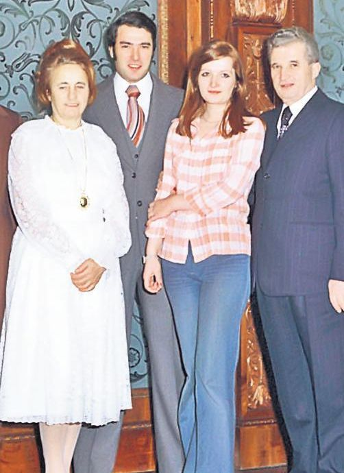 Zoia Ceaucescu with her father and mother