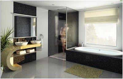 Baño con tina y regadera