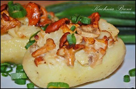 Ziemniaki faszerowane grzybami