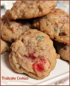 Fruitcake Cookies -- A Pinch of Joy