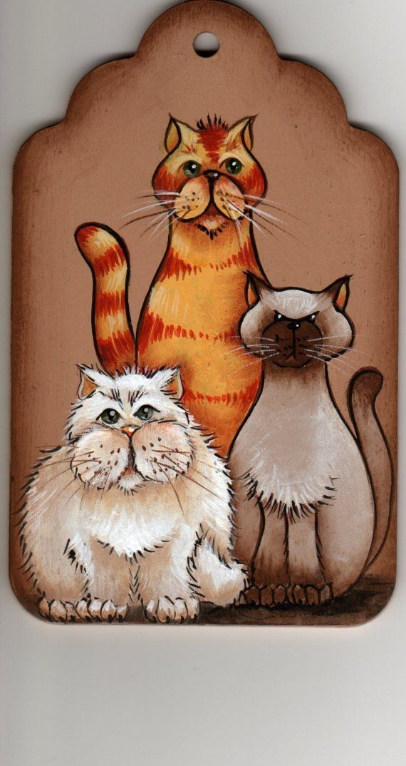 Cat+Trio+of+Trouble+Painting+Pattern+Packet+by+DawksArt
