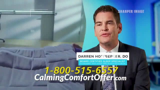 Sharper Image Calming Comfort Weighted Blanket Ad Commercial On