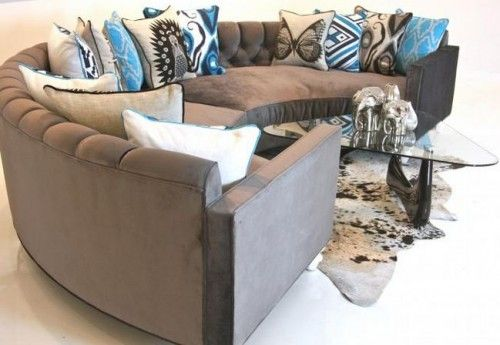 High Quality 11 Round Sofas In Midcentury Or Postmodern Style. Curved SectionalSectional  ...