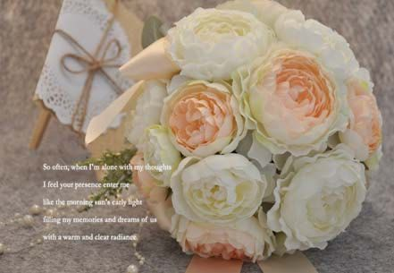 Make to order Shabby Chic Hand Tied Creamy and by qfunvalue
