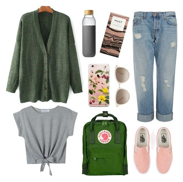 fresh spring cozy outfit by koczuba-anna on Polyvore featuring polyvore fashion style WithChic J Brand Vans Fjällräven Chopard Soma clothing
