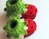 I am going to try and recreate these booties in a crocheted version! We shall see how that one goes!