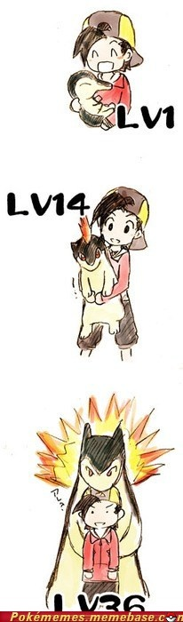 I'm pretty sure if in some magical way we get to meet our pokemon, they could all possibly be like this.