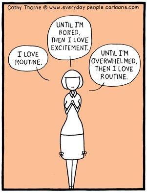 routine excitement