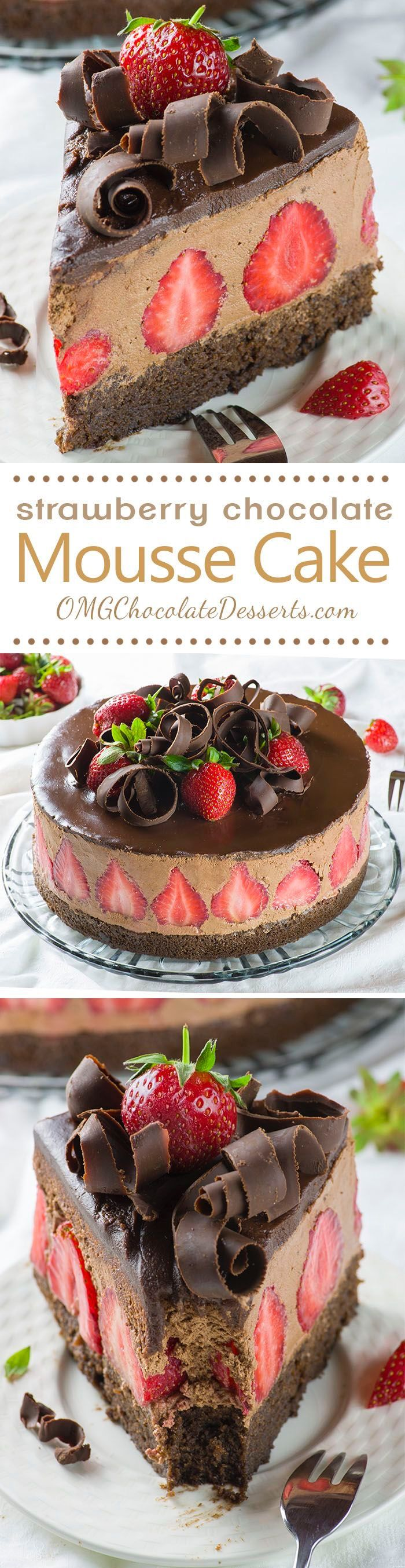 Strawberry Chocolate Mousse Cake.....
