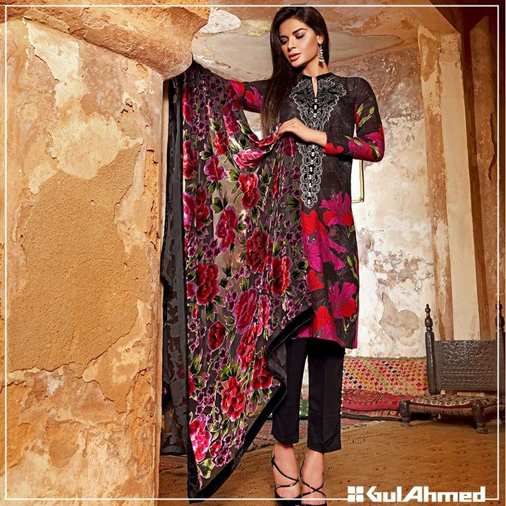 Gul Ahmed Winter Dresses Trend 2016 For Ladies