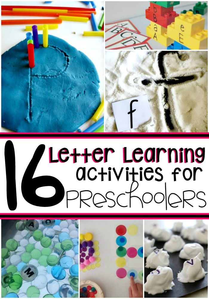 letter learning activities