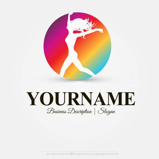 Online Free Logo Maker Womens #fitness  #logodesign