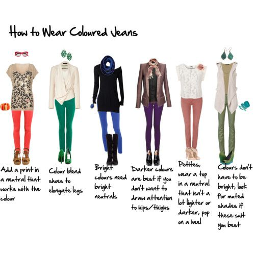 How to Wear Coloured Jeans for the 40