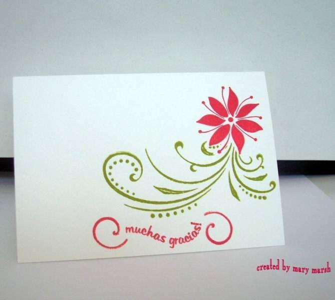 Gracias card - so pretty!!